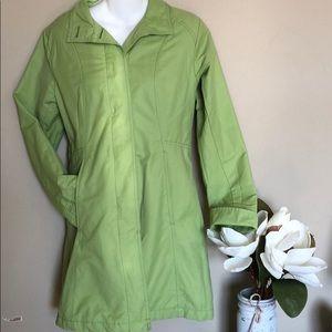 Eddie bauer light green jacket button up coat XS